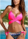 Women Bikini Set Halter Cross Padding Low Waist Thong Biquini Swimwear Swimsuit