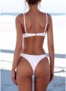 Sexy Frauen Bikini Set Badeanzug Push Up Gepolsterter Bh High Cut Bottoms Bademode Badeanzüge