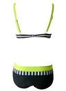 Frauen Bikini Set Bademode Badeanzug Streifen Dot Print Kontrast Push Up Underwire gepolsterte zweiteilige Badeanzug