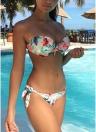 Ensemble de bikini deux pièces rembourré à imprimé floral pour femme sexy