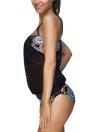 Frauen Bikini Set Bademode Badeanzug Tribal Blumendruck Bügel häkeln zweiteilige Badeanzug Beachwear