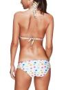 Damen Bikini Set Dot Striped Print Plunge V-Ausschnitt Halfter gepolsterte Wireless-Zweiteiler Badeanzug