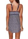 Frauen Einteiliger Badeanzug Rock Bademode Geometrischer Druck Gepolsterter Push-Up Bikini Badeanzug