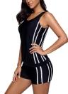 Sexy Frauen Tankini Set Badeanzug Striped Padded Top Bottoms Bademode Zweiteiler Badeanzug