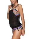 New Sexy Women Strappy Bikini Set Spaghetti Strap Backless Low Waist Thong Biquini Swimwear Swimsuit Black