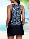 Sexy Women Bikini Set Geometric Print Padded Wireless Bathing Suit Swimsuits