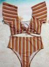 Sexy Frauen Bikini Set Badeanzug Push Up Bademode Solid & Leopard & Streifen Bandage Beach Wear Badeanzug