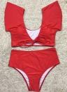 Sexy Women Bikini Set Swimsuit Push Up Swimwear Solid&Leopard&Stripe Bandage Beach Wear Bathing Suit