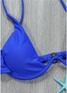 Sexy Frauen Bikini Set Solid Bügel Push-Up Top Bottom Bademode Badeanzug Badeanzug