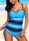 Moda Donna Strappy Tankini Bikini Set Leopard Print Vita bassa Perizoma Costumi da bagno due pezzi