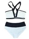 Sexy Women Bikini Set Color Splice Wireless Bathing Suit Swimsuits Two Piece
