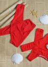 Sexy Women Bikini Set Cross Over Sólidos Trajes de banho sólidos Swimsuits Beach Wear Two Piece