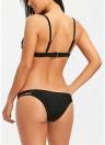 Sexy Frauen Floral Sheer Mesh Bikini Set Stickerei Blume Badeanzug Side Strap brasilianische Bademode