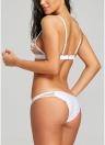 Swimwear brasiliano del bikini del ricamo del fiore del costume da bagno del ricamo della parte posteriore del bikini sexy delle donne sexy