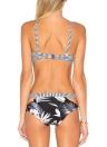 Sexy Frauen Brazilian Bikini Set Badeanzug Streifen gedruckt Bademode ausgeschnitten Bandage Padded Beach Wear Badeanzug