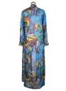 Sexy Women Chiffon Bikini Cover Up Floral Print Bohemia Cardigan Kimono Loose Outerwear Beachwear