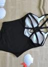 Sexy Women Swimsuit Deep V Neck Hollow Out Swimwear Beach Playsuit