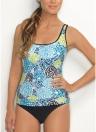 Sexy Frauen Blumendruck Bikini Set Halter Strap Badeanzug