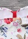 Costume da bagno intero con stampa floreale a contrasto