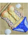 Sexy Women Bikini Set Floral Geometric Print Underwire Push Up  Swimsuit