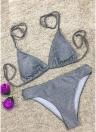 Sexy Frauen Glitter Halter Bikini Set Bling Pailletten Biquini Bademode Badeanzug