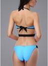 Costume da bagno intero da donna a vita bassa con taglio posteriore senza schienale