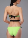Front Zipper Backless Cut Out taille basse femmes One Piece Swimsuit