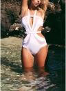 Neckholder Aushöhlen Backless Frauen Badeanzug