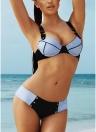 Damen Bustier Bikini Set Push Up