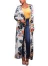 Ethnischer Blumendruck KimonoTunic Strand vertuschen