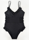 Ruffles Bandage Hollow Out Monokini de una pieza