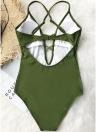 Costumi da bagno donna monokini bikini Costumi da bagno monokini con cinturino alla caviglia in pizzo