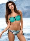 Sexy Frauen Rüschen Riemchen Bikini Set Low Waist Bademode Badeanzug