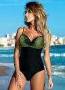 Frauen Einteiliger Badeanzug African Monokini Push Up gepolsterten Bikini Badeanzug