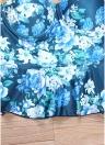 Costume da bagno donna con stampa floreale a costine. Costume da bagno con ferretto