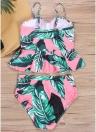 Frauen mit Blumenmuster Bikini Set Badeanzug Bademode Bügel Padded Beach Wear