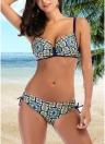 Women Bikini Set  Underwire Push Up Top Bottom Swimwear Swimsuit Bathing Suit
