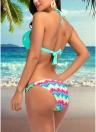 Femmes bikini ensemble coloré impression à armatures haut bas maillot de bain maillot de bain maillot de bain