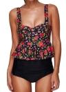 Bikini imbottito con stampa floreale