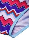 Bikini con nappine con stampa di frange e nappe
