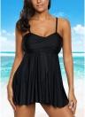 Bikini da donna con spalline incrociate e costume da bagno senza spalline, due pezzi