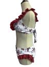 Bikini senza cuciture con imbottitura in rilievo con stampa floreale