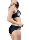 Mulheres Sporty Bikini Set Striped Cropped Tank Top Two Pieces Swimsuit Swimwear