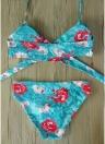 Costume da bagno donna Bikini Halter Bandage Push Up Costume da bagno senza fili Beach Wear