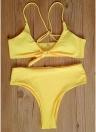 Femme Ensemble bikini Soutien-gorge rembourré Haut Bas de maillot de bain Maillot de bain Maillot de bain