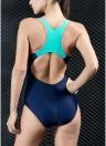 Costume da bagno intero donna con impunture Cappotto sportivo da corsa Costumi da bagno da corsa indietro Monokini