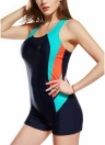Costume da bagno One Piece Swinguit sportivo con impunture a pannello