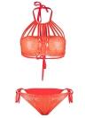 Femmes Sequin Bandage Bikini Set Strappy Push Up Soutien-gorge rembourré Maillot de bain Maillots de bain