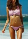 Completo bikini annodato a costine annodato a costine