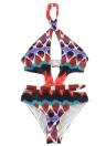 Mulheres de uma peça de roupa de banho impresso Swimwear Banquete de banho de mergulho Roupa de praia sem costas Monokini